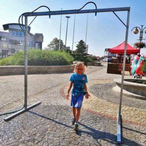 Stadt stellt Wasserdusche auf